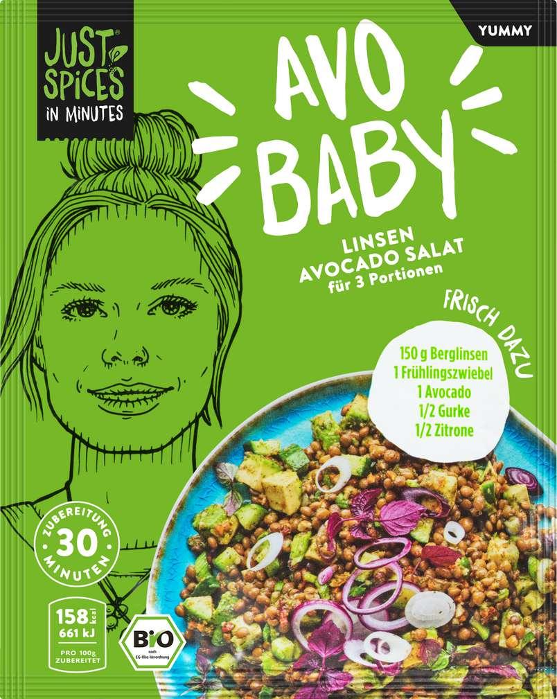 Abbildung des Sortimentsartikels Just Spices Bio-Gewürz Linsen Avocado Salat lf 30g