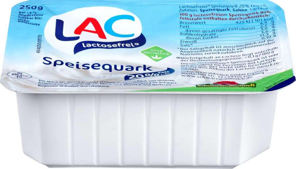 Abbildung des Sortimentsartikels Schwarzwaldmilch Quark lactosefrei 20% Fett i.Tr. 250g