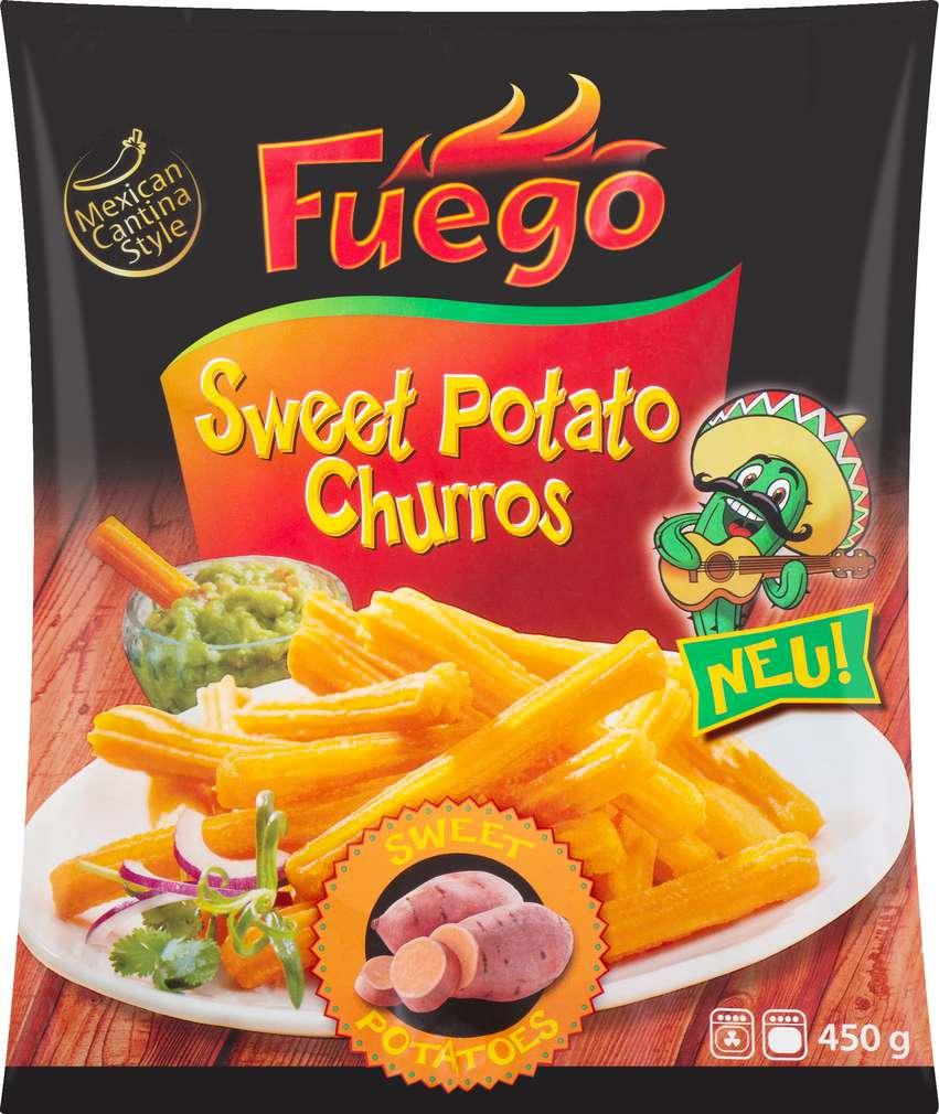 Abbildung des Sortimentsartikels Schwarmstedter Sweet Potato Churros 450g