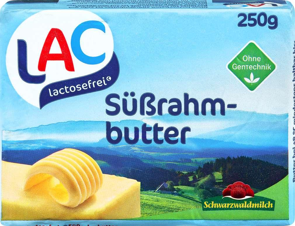 Abbildung des Sortimentsartikels Schwarzwaldmilch lactosefreie Süßrahm Butter 82% Fett  250g