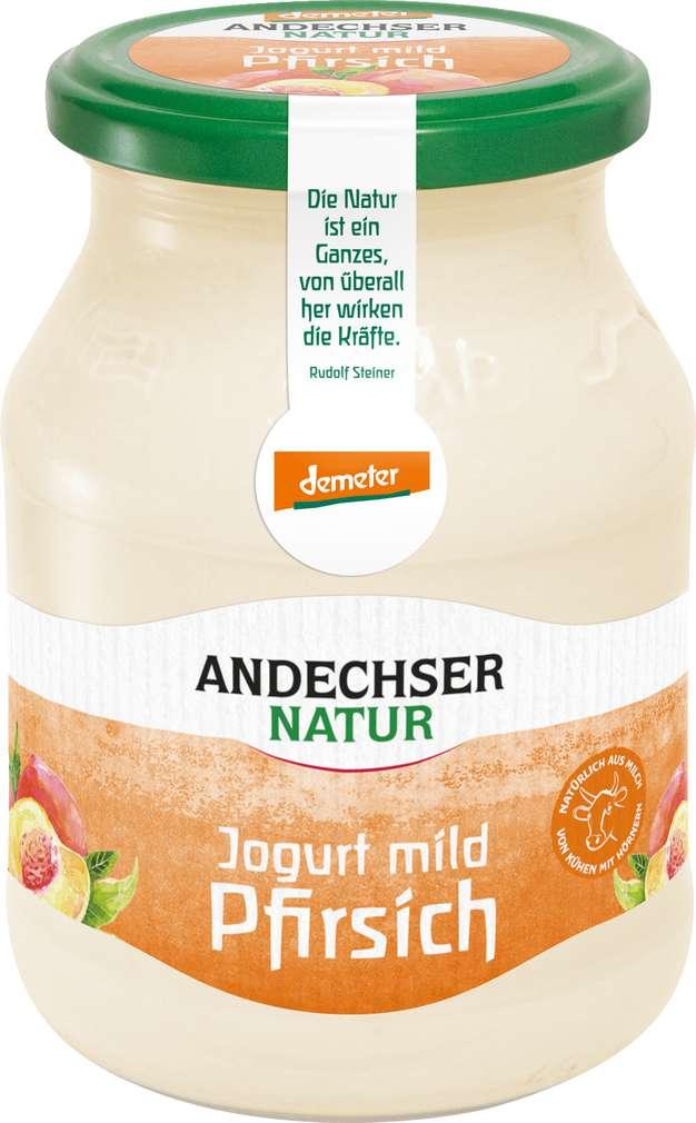 Abbildung des Sortimentsartikels Andechser Demeter Joghurt Pfirsich 500g