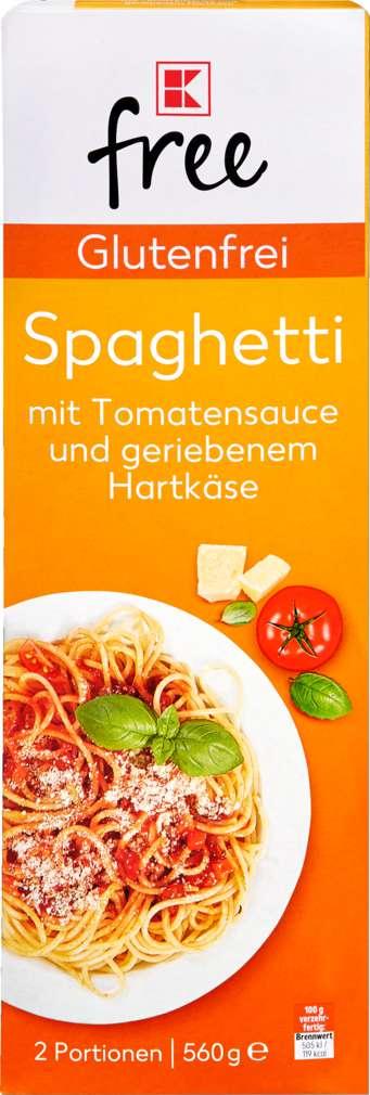 Abbildung des Sortimentsartikels K-Free Glutenfrei Spaghetti mit Tomatensauce 2 Portionen