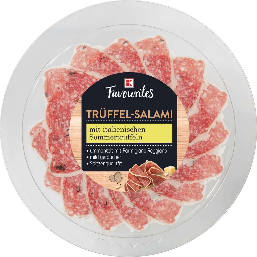 Abbildung des Sortimentsartikels Exquisit Trüffelsalami mit Parmesan 80g