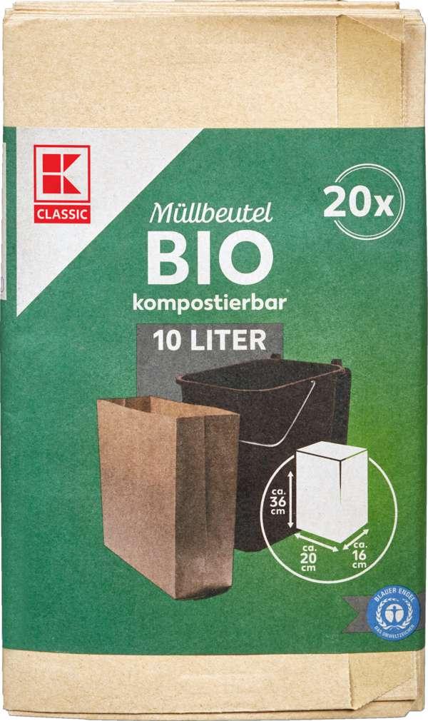 Abbildung des Sortimentsartikels K-Classic Bio Müllbeutel 10L Papier 20 Stück