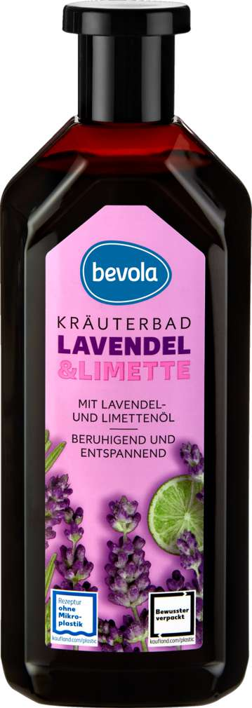 Abbildung des Sortimentsartikels Bevola Kräuterbad Lavendel & Limette 500ml