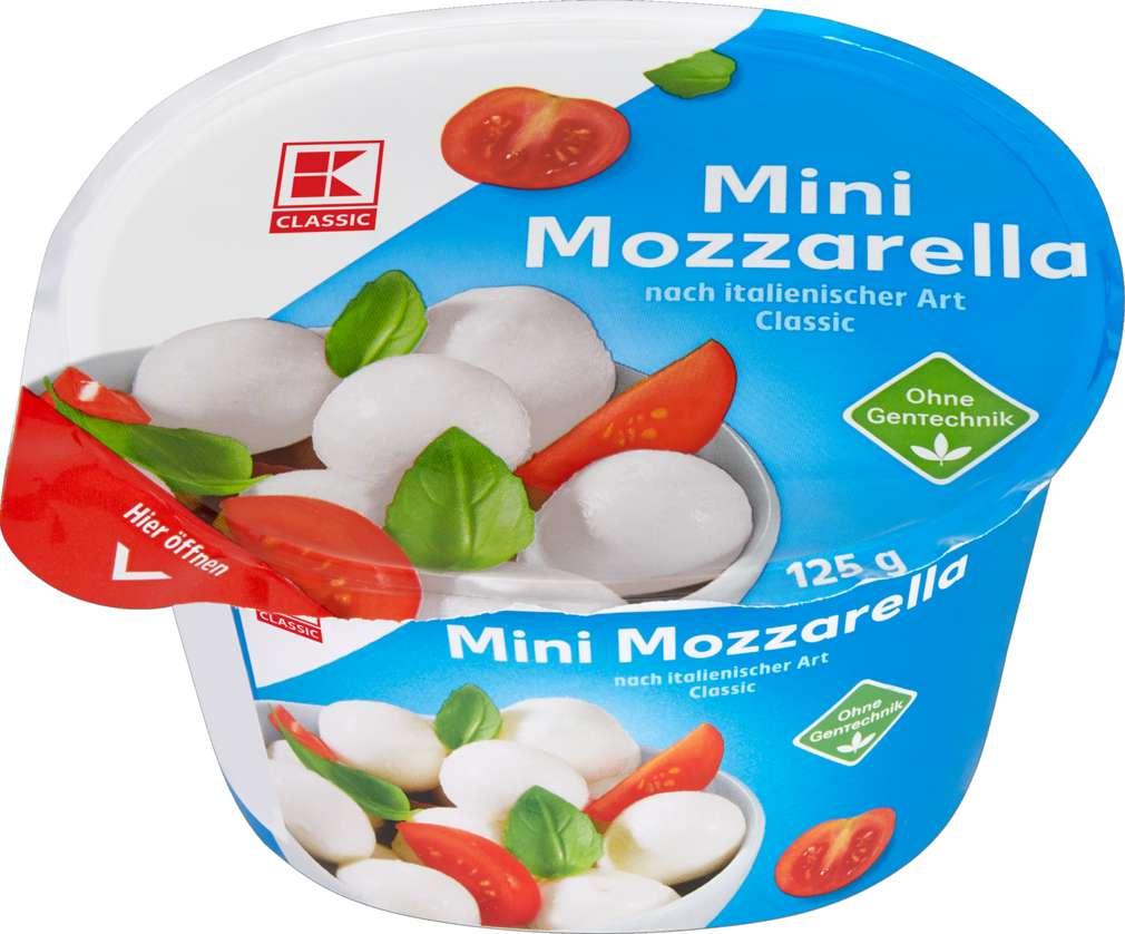 Abbildung des Sortimentsartikels K-Classic Mozzarella Mini 45% Fett i.Tr. 250g