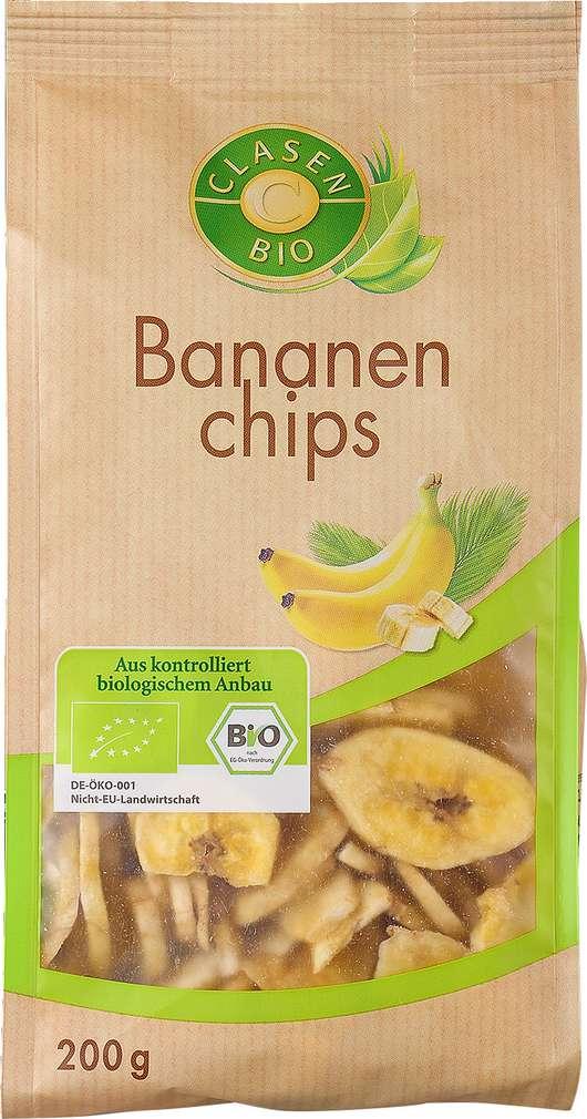 Abbildung des Sortimentsartikels Clasen Bio Bananenchips 200g