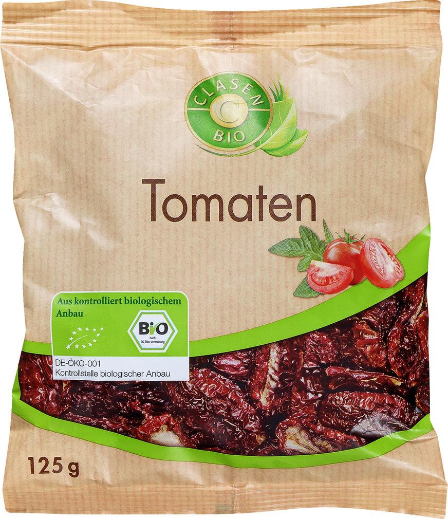 Abbildung des Sortimentsartikels Clasen Bio Tomaten getrocknet 125g