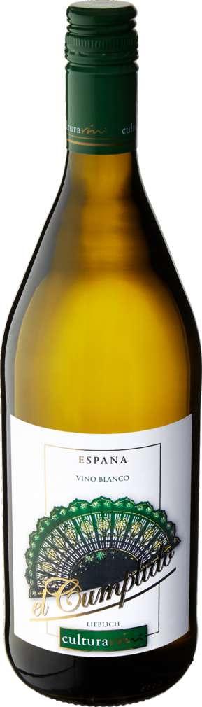 Abbildung des Sortimentsartikels Cultura Vini El Cumplido Weiß Spanien lieblich 1,0l