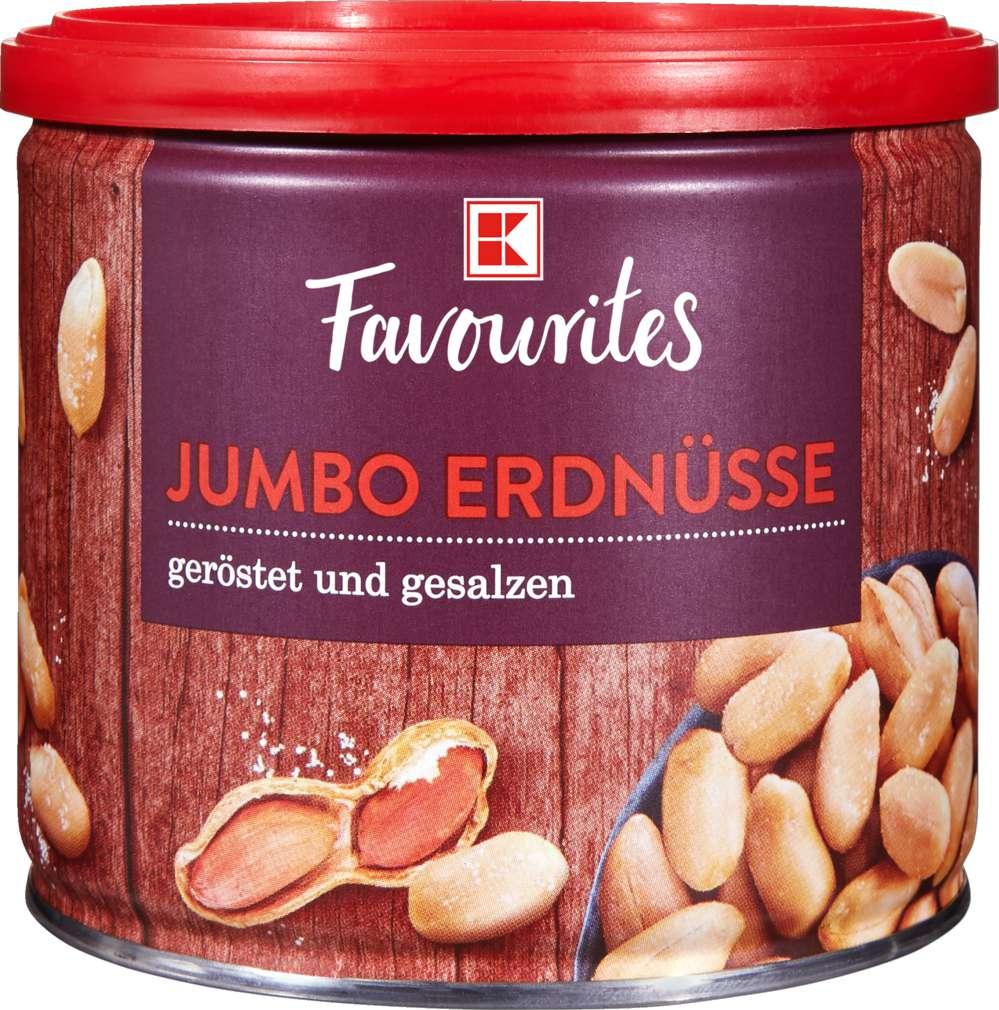 Abbildung des Sortimentsartikels K-Favourites Jumbo Erdnüsse geröstet & gesalzen 200g