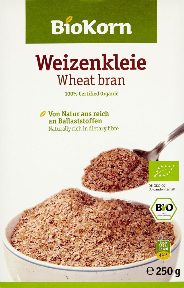 Abbildung des Sortimentsartikels BioKorn Weizenkleie 250g