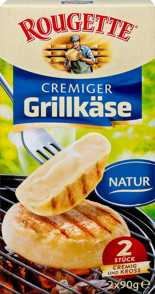 Abbildung des Sortimentsartikels Rougette Grillkäse Natur 55% Fett i.Tr. 180g