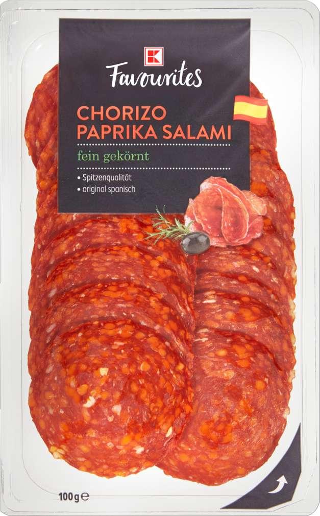 Abbildung des Sortimentsartikels K-Favourites Chorizo fein geschnitten 100g
