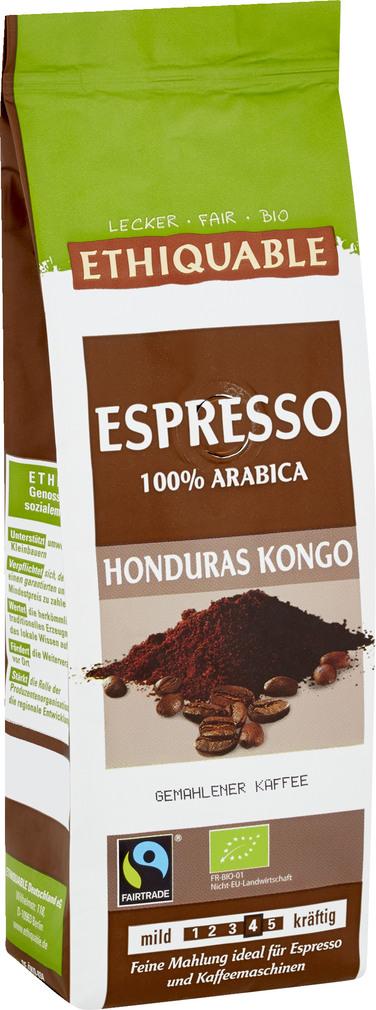 Abbildung des Sortimentsartikels Ethiquable Espresso Honduras Kongo 250g