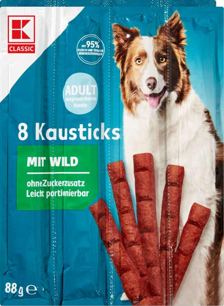Abbildung des Sortimentsartikels K-Classic Hund Kausticks Wild 8x11g