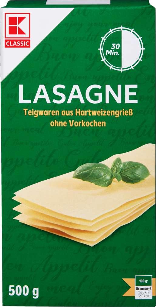 Abbildung des Sortimentsartikels K-Classic Lasagne gelb ohne Ei 500g