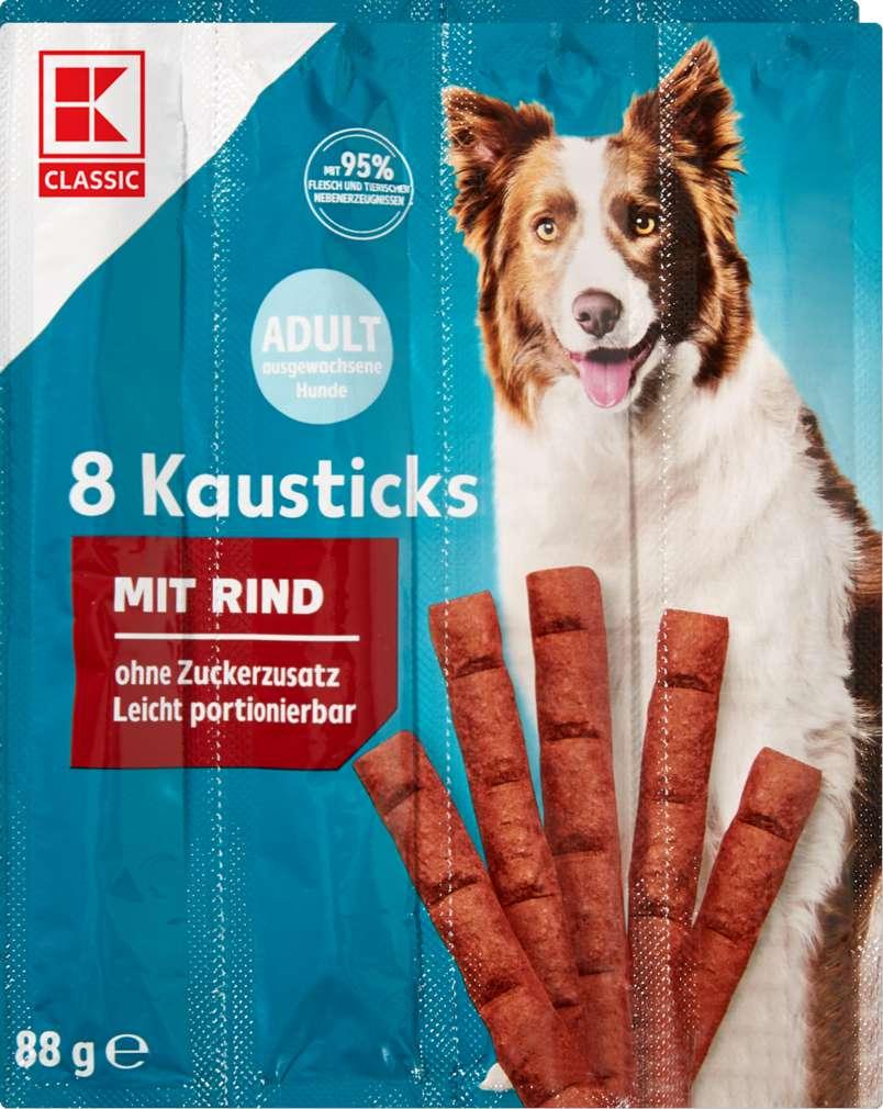 Abbildung des Sortimentsartikels K-Classic Hund Kausticks Rind 8x11g