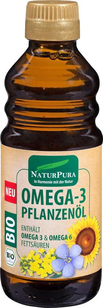 Abbildung des Sortimentsartikels NaturPura Bio Omega 3 Pflanzenöl 250ml