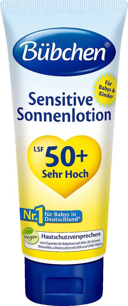 Abbildung des Sortimentsartikels Bübchen Sensitive Sonnenlotion LSF 50+ 100ml
