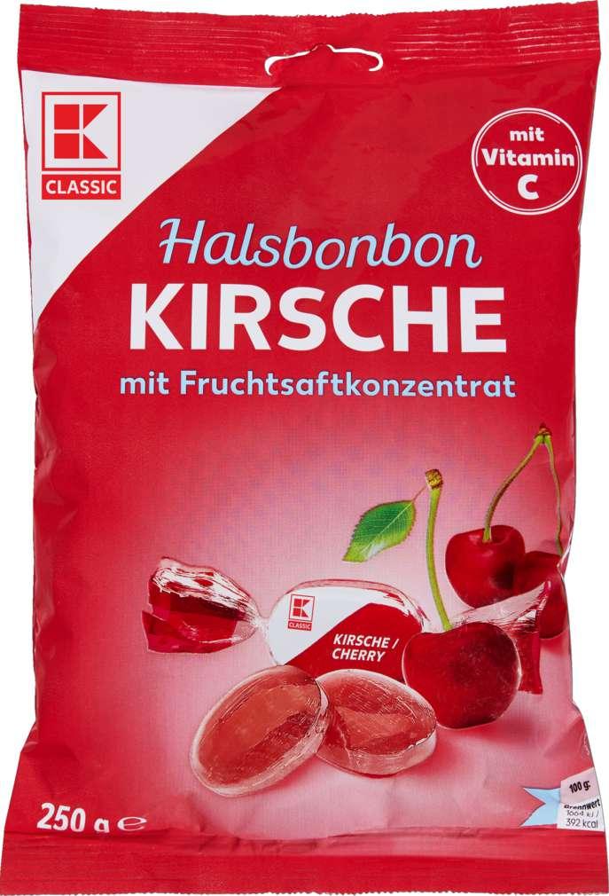 Abbildung des Sortimentsartikels K-Classic Halsbonbon Kirsch 250g