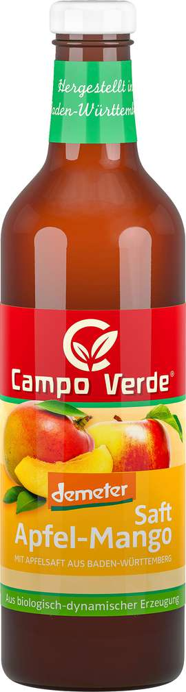 Abbildung des Sortimentsartikels Campo Verde Demeter Apfel-Mango Saft 750ml