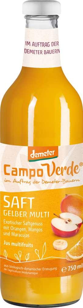 Abbildung des Sortimentsartikels Campo Verde Demeter Multi-Saft Gelb 750ml