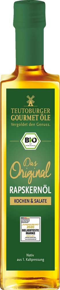 Abbildung des Sortimentsartikels Teutoburger Ölmühle 100% Reines Raps Kernöl 500ml