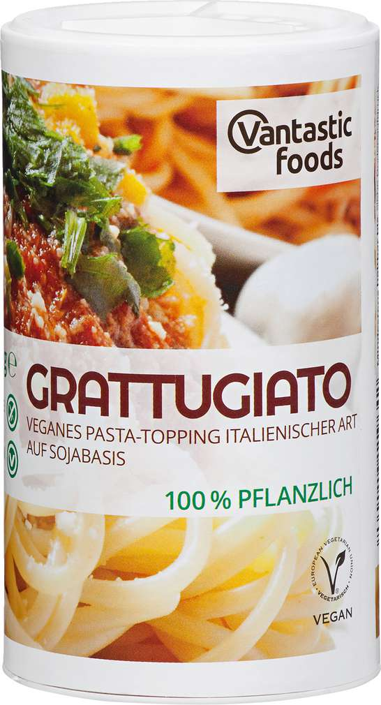 Abbildung des Sortimentsartikels Vantastic Foods Grattugiato Sojastreukäse vegan 60g
