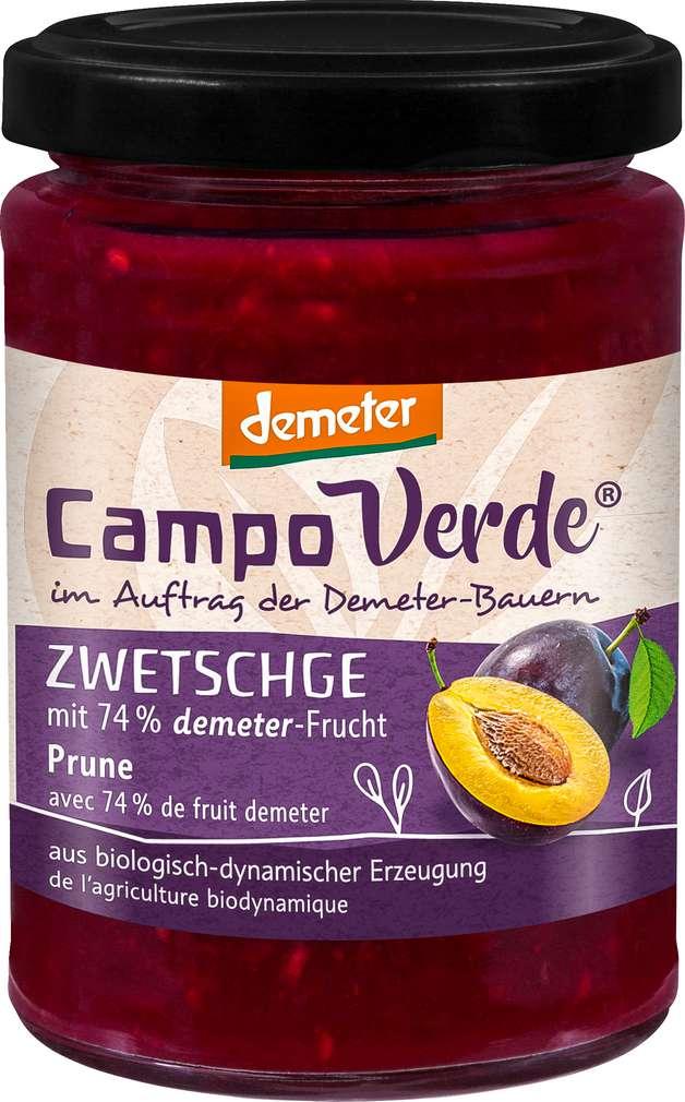 Abbildung des Sortimentsartikels Campo Verde Demeter Fruchtaufstrich Zwetschge 200g