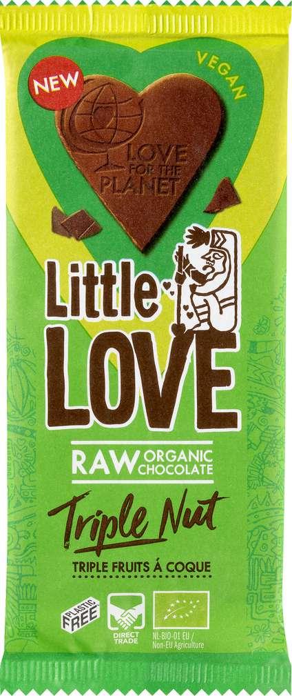 Abbildung des Sortimentsartikels Little Love Bio-Schokolade Triple Nut 65g