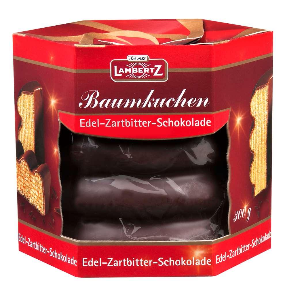 Abbildung des Sortimentsartikels Lambertz Baumkuchen Edel-Zartbitter-Schokolade 300g