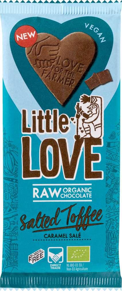 Abbildung des Sortimentsartikels Little Love Bio-Schokolade Salted Toffee 65g