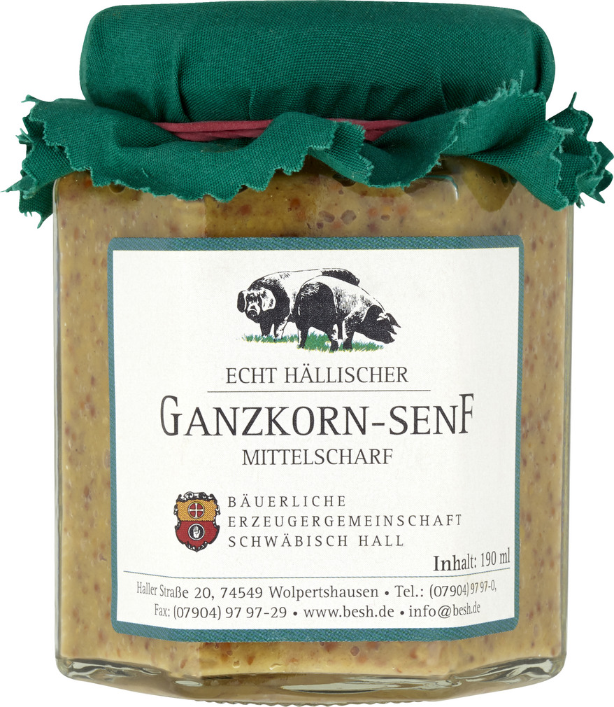 Abbildung des Sortimentsartikels BESH Ganzkorn-Senf mitellscharf 190ml