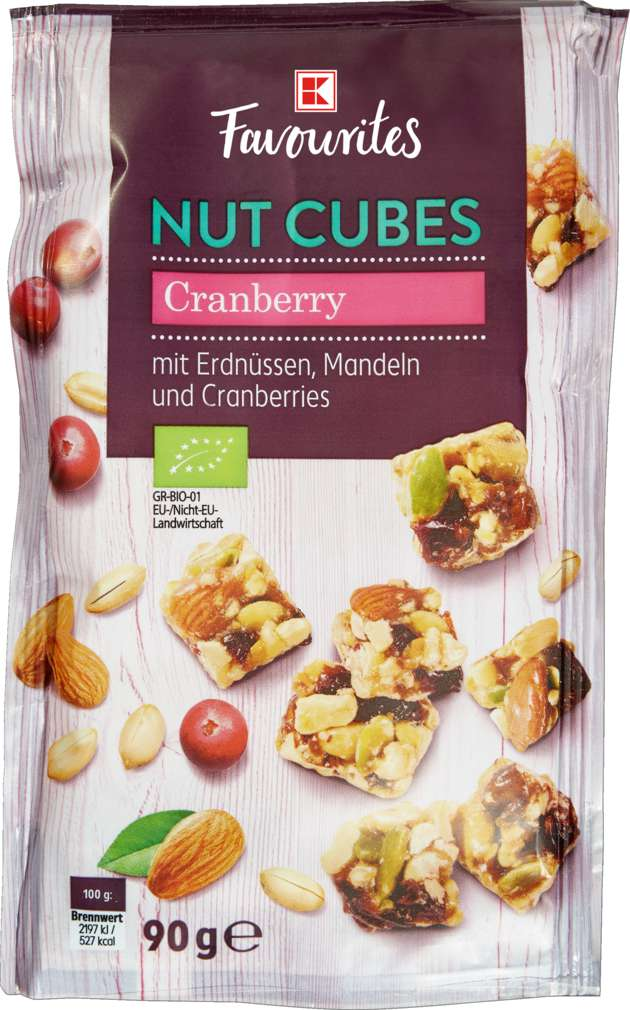 Abbildung des Sortimentsartikels K-Favourites Nut Cubes Cranberry 90g
