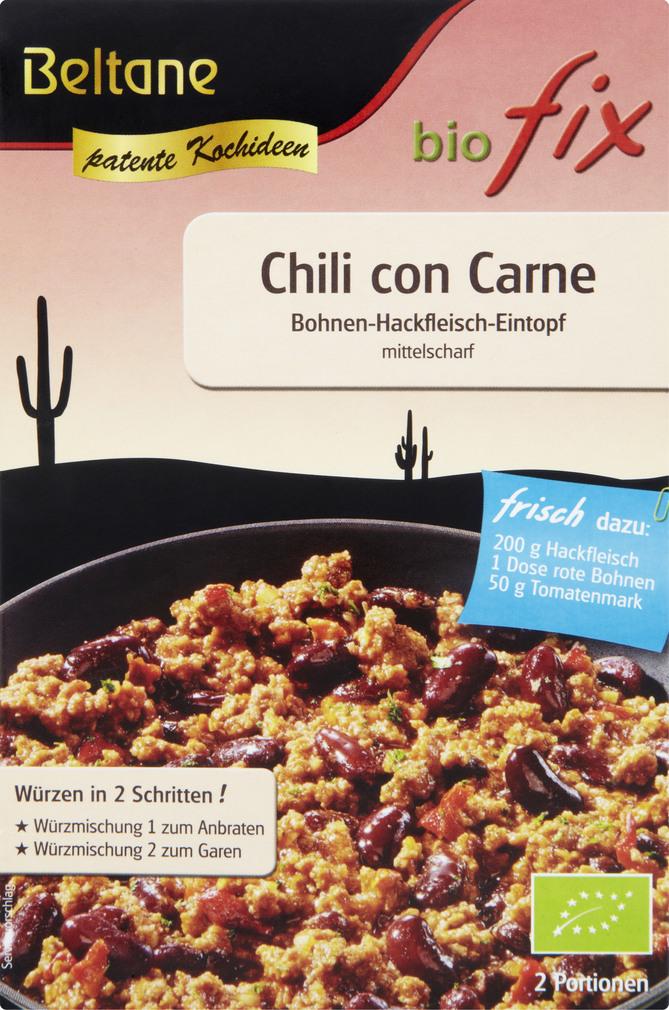 Abbildung des Sortimentsartikels Beltane biofix Bio Fix Chili con Carne 28g