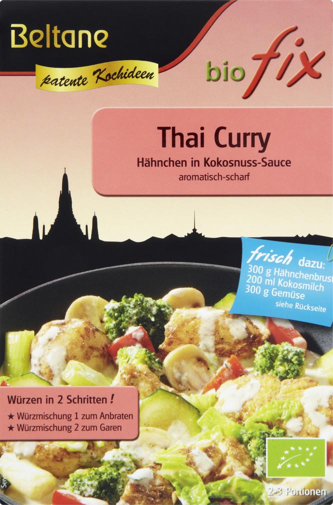 Abbildung des Sortimentsartikels Beltane biofix Bio Fix Thai Curry 21g
