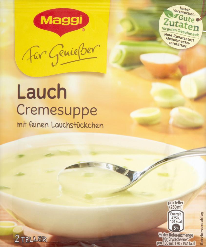 Abbildung des Sortimentsartikels Maggi Für Genießer Suppe Lauchcreme 51g