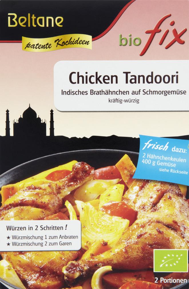Abbildung des Sortimentsartikels Beltane biofix Chicken Tandoori 22g