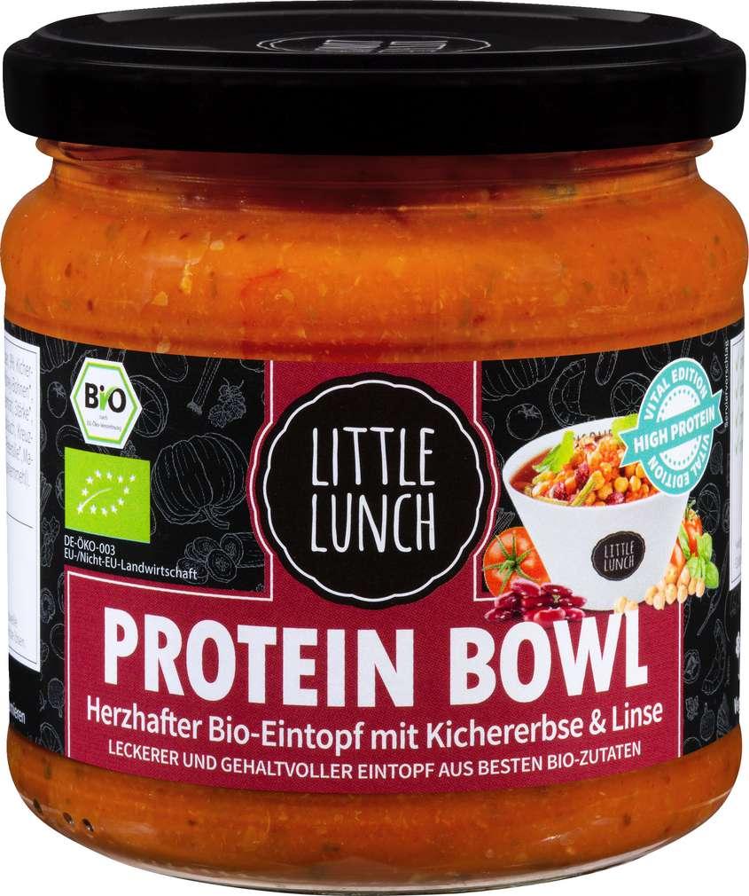 Abbildung des Sortimentsartikels Little Lunch Bio-Protein Bowl Kirchererbsen,Linsen 350ml