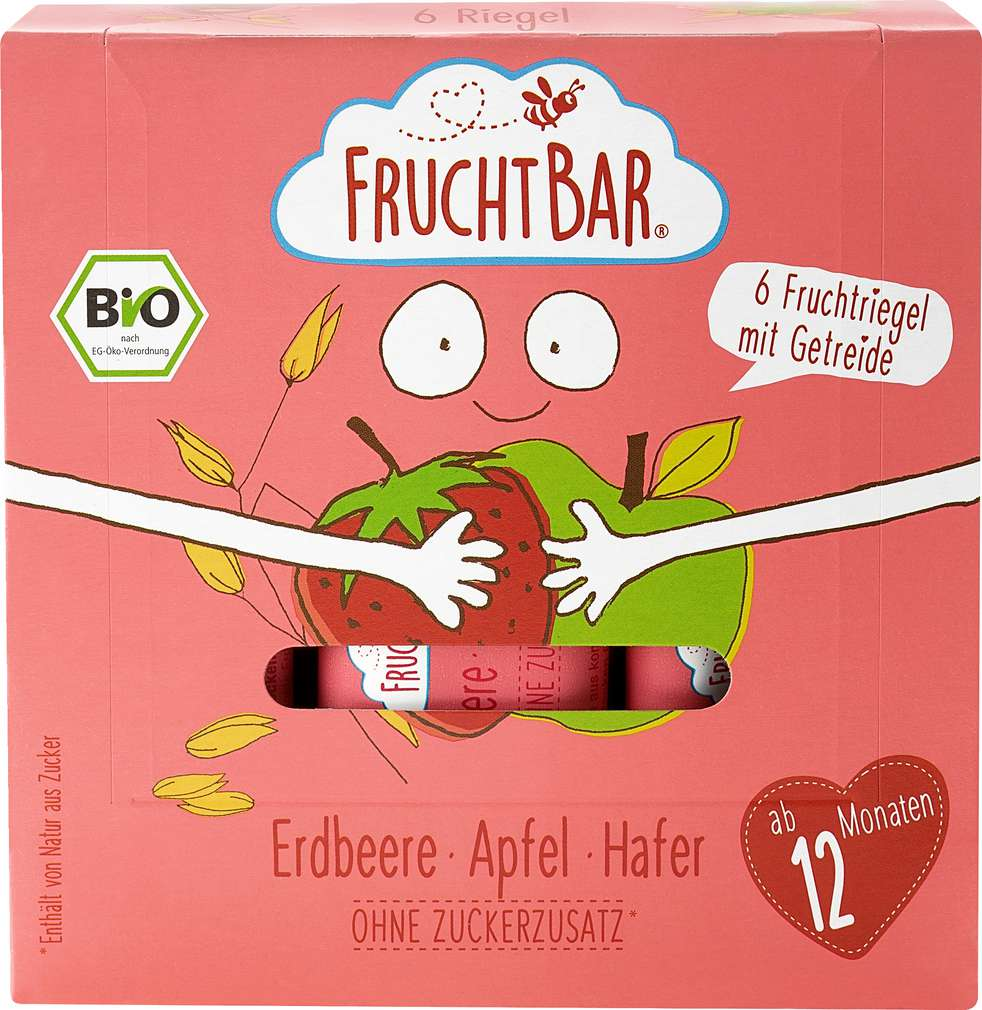 Abbildung des Sortimentsartikels jufico FruchtBar 100% Bio-Riegel 6 Stück