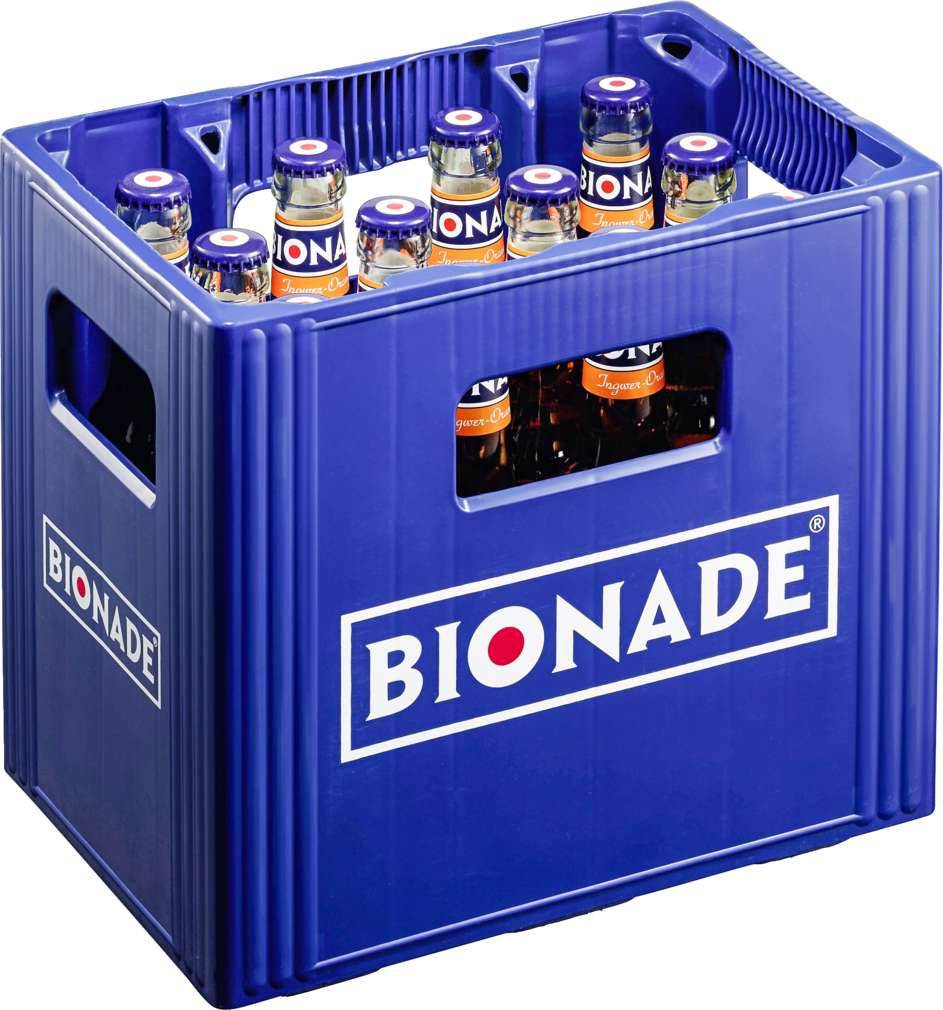 Abbildung des Sortimentsartikels Bionade Ingwer-Orange 12x0,33l