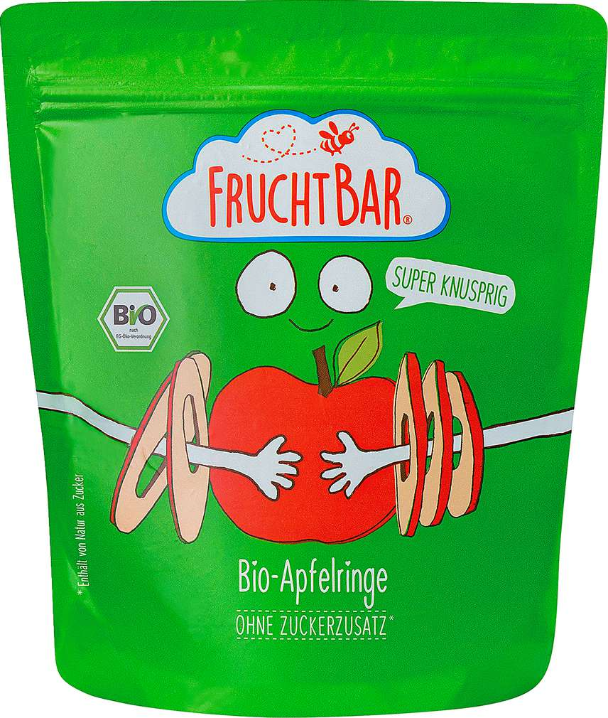 Abbildung des Sortimentsartikels jufico FruchtBar 100% Bio-Apfelringe 25g
