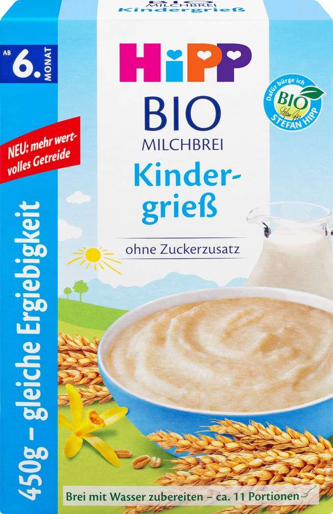 Abbildung des Sortimentsartikels Hipp Milchbrei Bio-Kindergrieß ab dem 6. Monat 450g