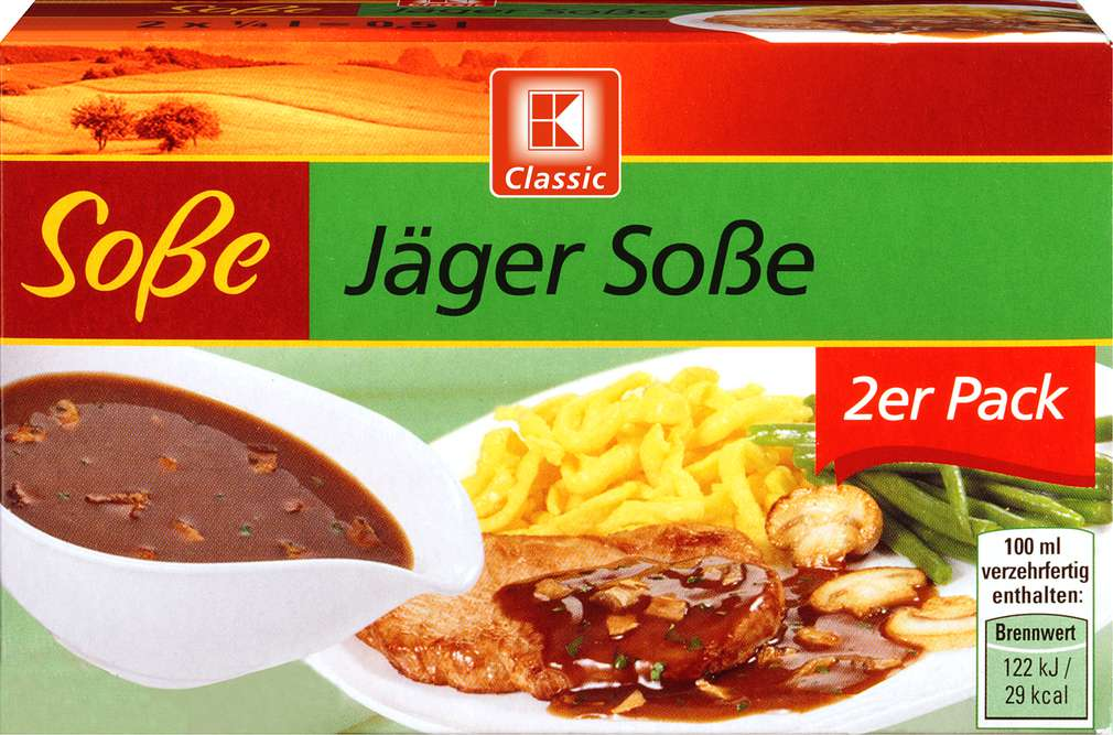 Abbildung des Sortimentsartikels K-Classic Jäger Soße 2x21g