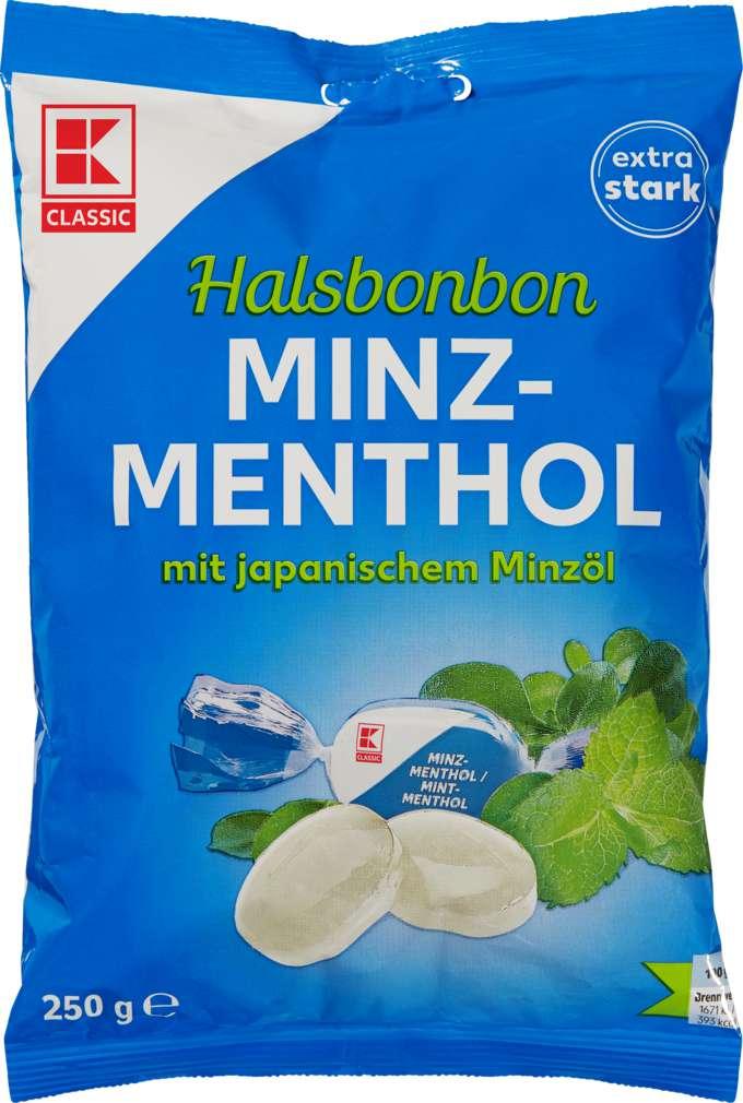 Abbildung des Sortimentsartikels K-Classic Halsbonbon Minz-Menthol 250g