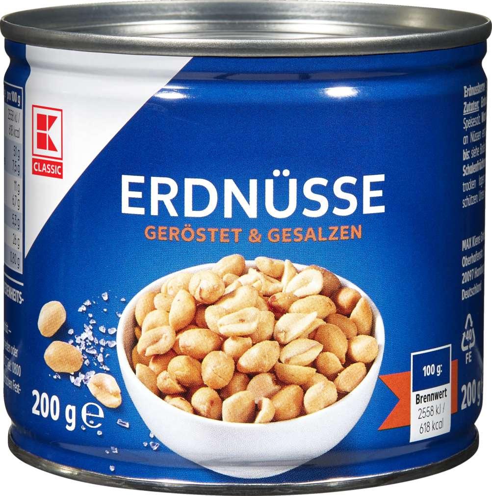 Abbildung des Sortimentsartikels K-Classic Erdnüsse geröstet + gesalzen 200g