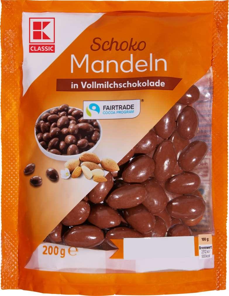 Abbildung des Sortimentsartikels K-Classic Mandeln in Vollmilchschokolade 200g
