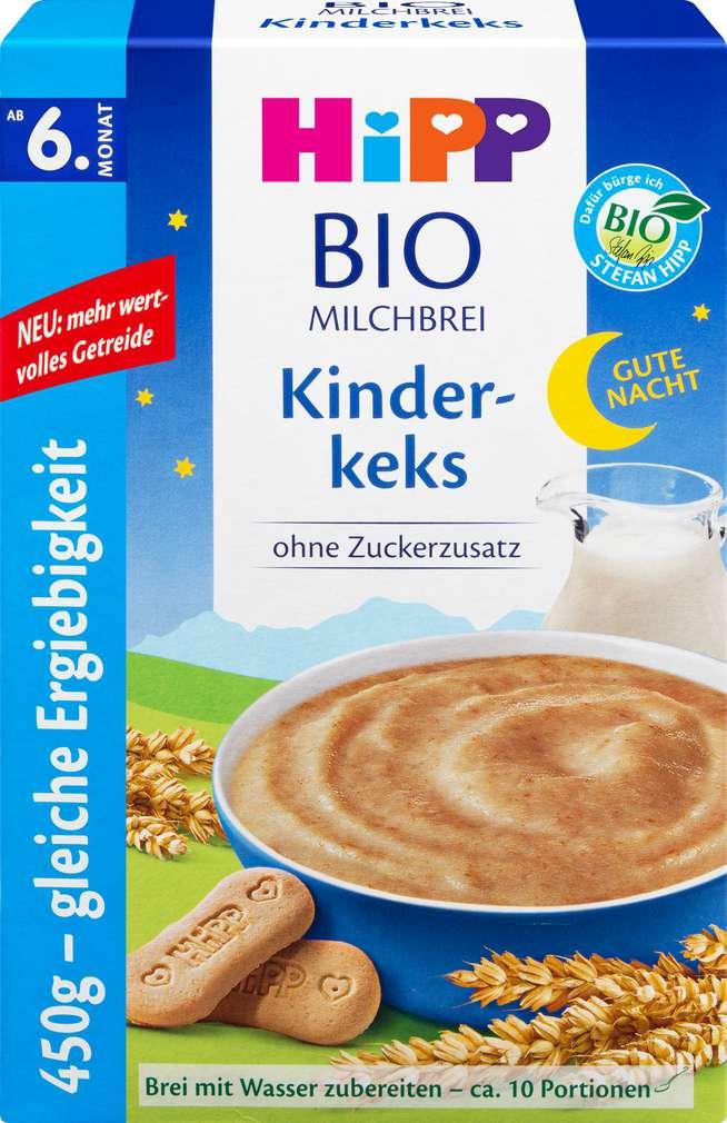 Abbildung des Sortimentsartikels Hipp Gute Nacht Brei Milchbrei Kinderkeks ab dem 6. Monat 450g