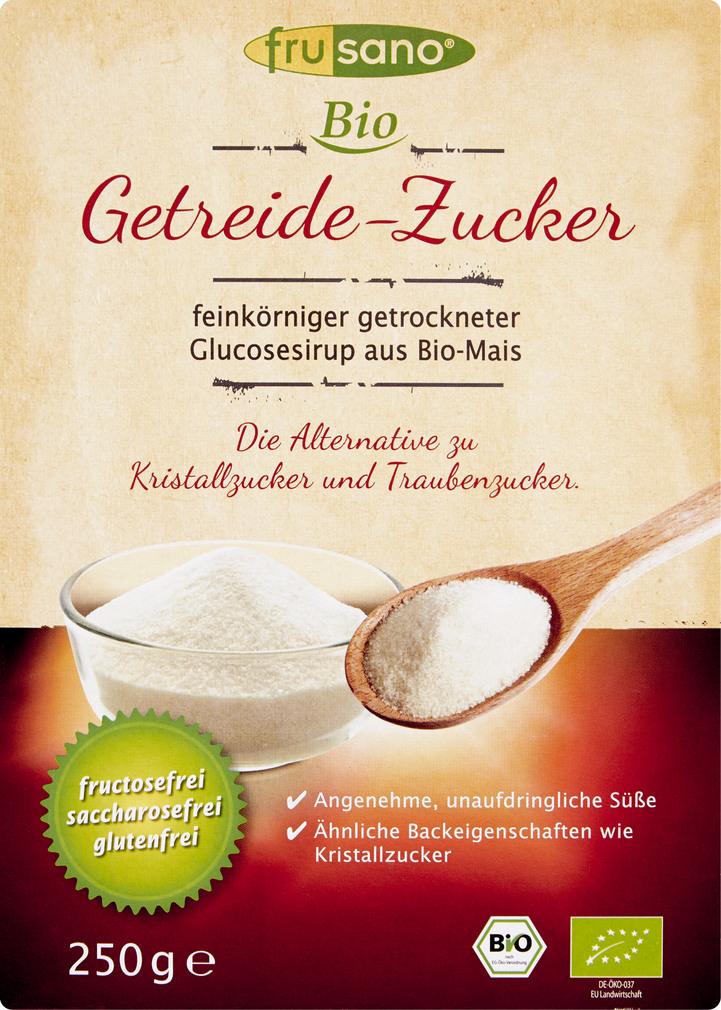 Abbildung des Sortimentsartikels Frusano Bio Getreide-Zucker 250g