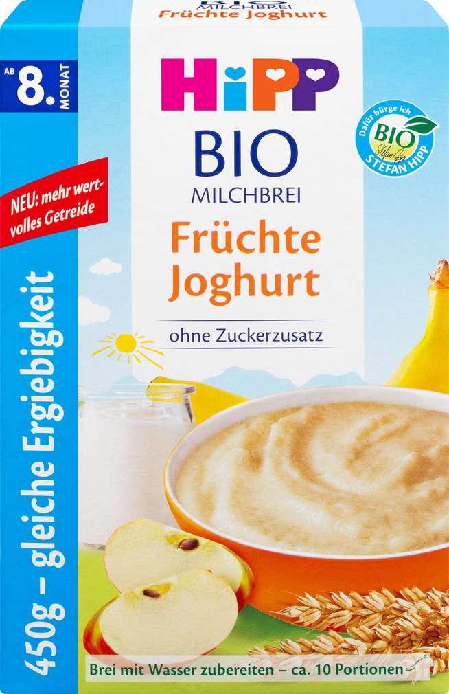 Abbildung des Sortimentsartikels Hipp Milchbrei Früchte/Joghurt ab dem 8. Monat 450g